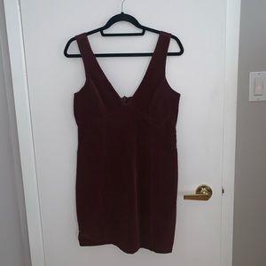 FOREVER 21 velvet maroon dress